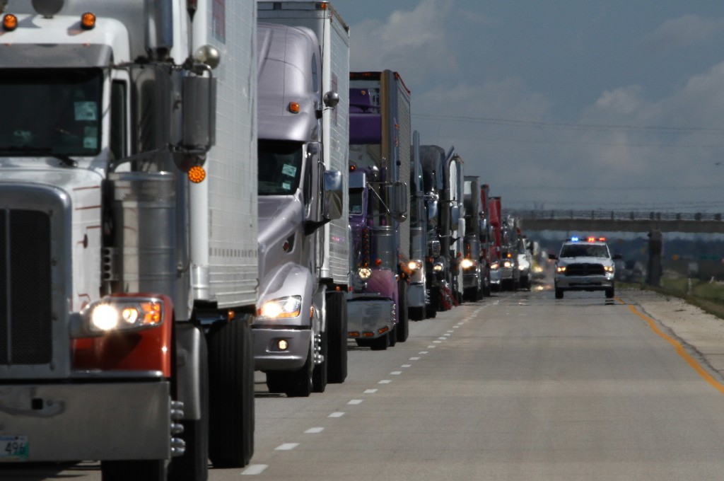 Canada's Largest '2013 World's Largest Truck Convoy' with 171 trucks registered[1]