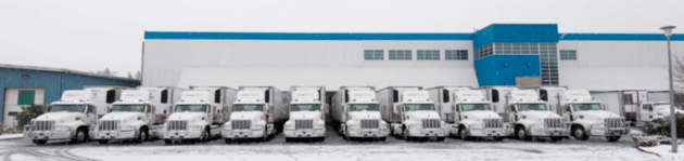 Cold Star Freight's fleet of 10 CNG-fuelled Mack Pinnacle tractors.