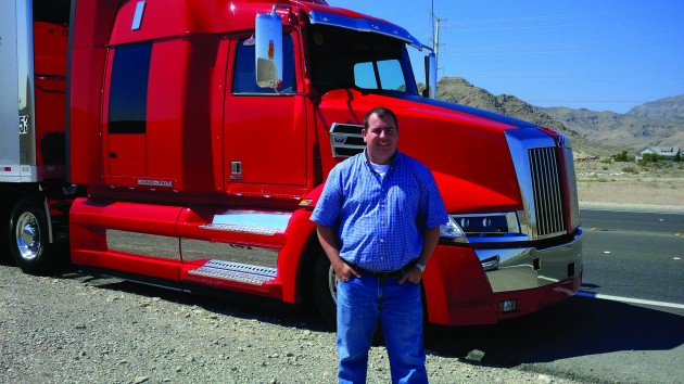 Truck News editor James Menzies has the opportunity to take the Western Star 5700 on a two-hour drive in the Nevada desert.