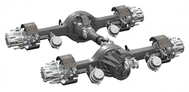 The Dana Spicer AdvanTek 40 tandem axle is designed for increased torque loads.
