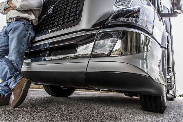 A close-up look at the new bumper.