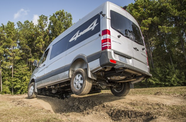 A 4x4 Sprinter is put through its paces.