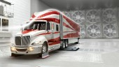Navistar says the ProStar ES was designed for superior performance in any wind conditions - including crosswinds.