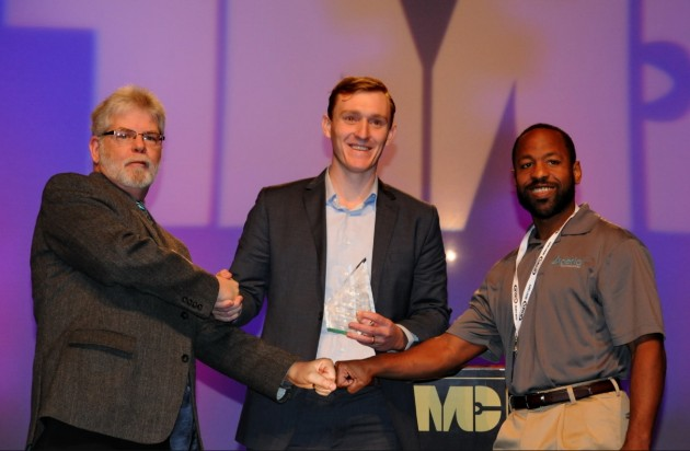 From left to right: Jim Park, chair of the TWNA Technical Award committee, Aperia CEO, Josh Carter and Brandon Richardson, Aperia's Chief Technology Officer.