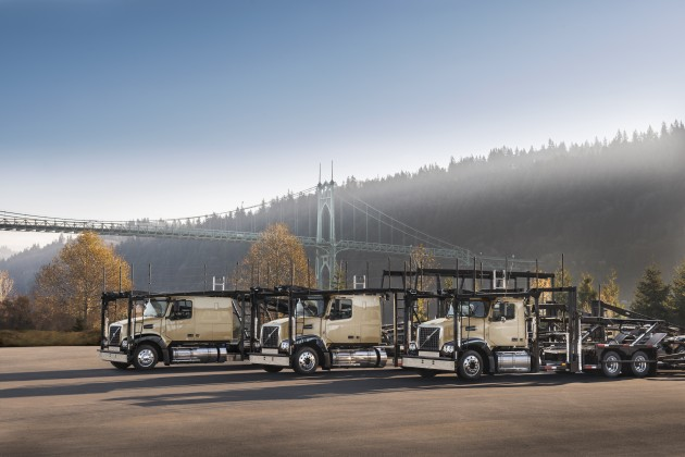 Volvo now has a complete line of auto-haulers, including one with full-sized sleeper for longhaul.