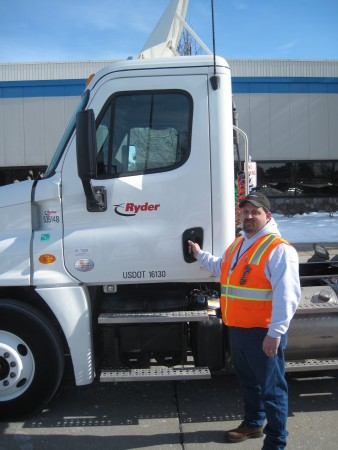 Driver James Ekins helped Pro-Tread reach a milestone by completing the seven millionth lesson delivered through the system.