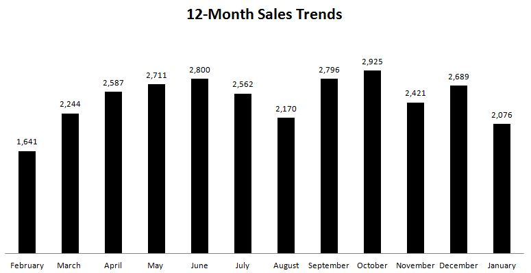 12-Month Sales Trends