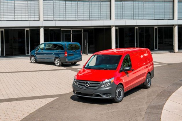 The new mid-size Mercedes Metris.