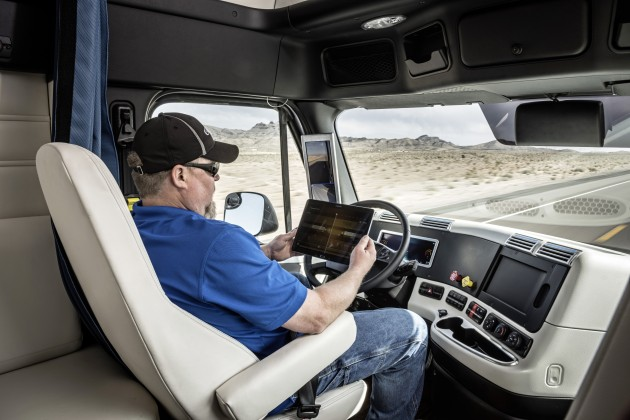 The technology will allow professional drivers to become logistics managers, focusing on non-driving activities while in Highway Pilot mode, Daimler claims.