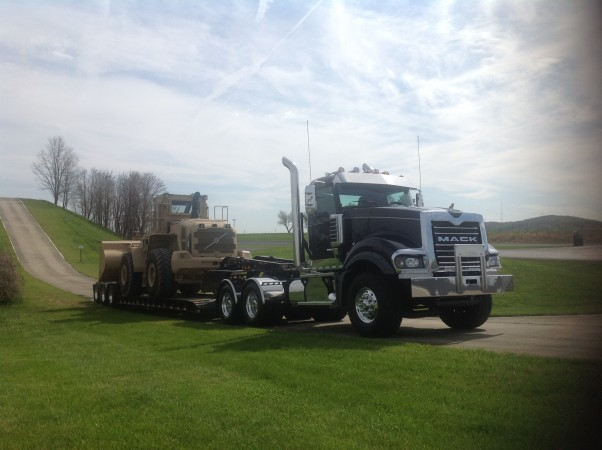 A Mack Titan heavy-hauler with mDrive HD.