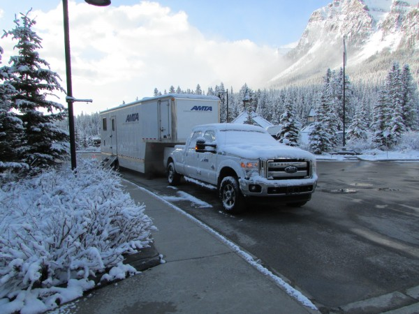 Snow greeted delegates at the AMTA's management conference in Lake Louise, Alta.