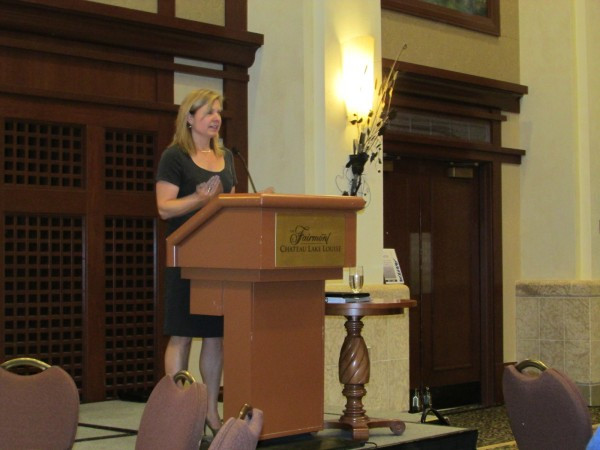 Trucking HR Canada's Angela Splinter was one of many speakers at the event.