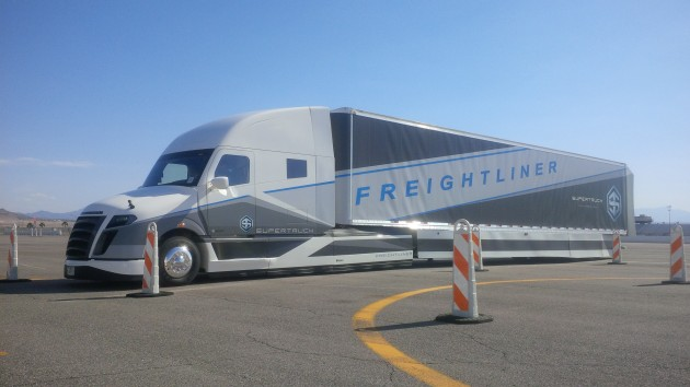 James Menzies had the chance to climb behind the wheel of Daimler's $80-million SuperTruck.
