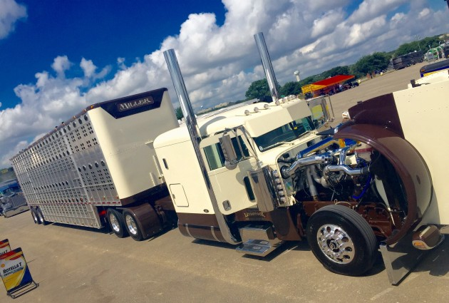 This livestock tractor-trailer won Phil Miller second runner-up.