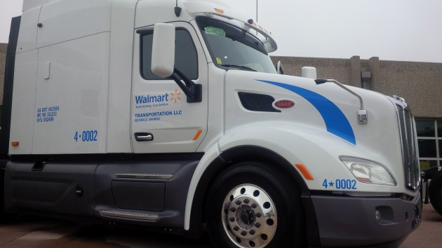The Walmart Technology Demonstrator truck.