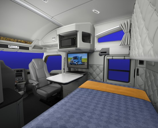 A swivel passenger seat contributes to a more livable interior.