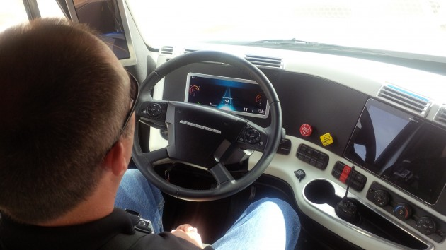 Jim Martin demonstrates how Highway Pilot works.