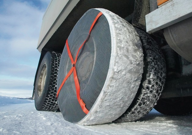 AutoSock (snow socks) for trucks.