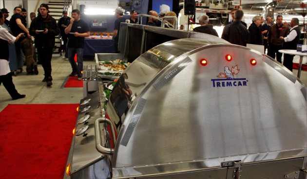 A barbecue built by Tremcar and used during the company's grand opening event Nov. 4 in Sherwood Park. Tremcar customers have purchased barbecues constructed by Tremcar to the tune of around $38,000 a piece.
