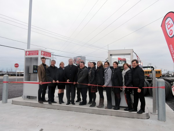 Grand opening of new EBI compressed natural gas station in Quebec.