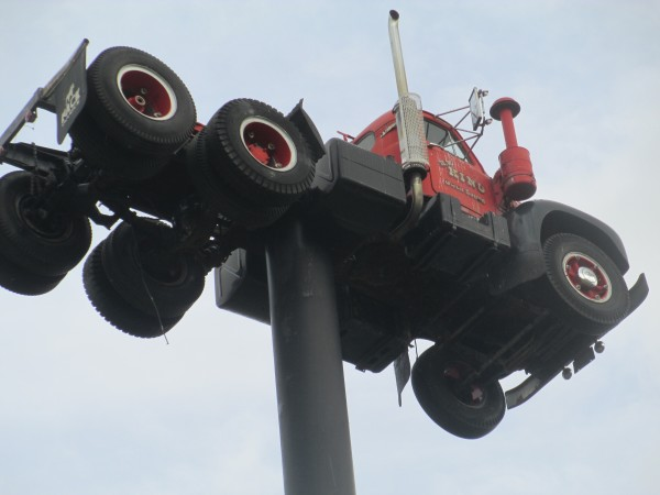 Model B Mack on a pole