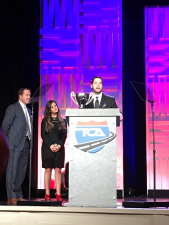 Josh Grimaldi wins 2015 Highway Angel of the Year Award