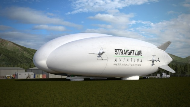 Straightline Aviation (SLA) signed a letter of intent to purchase up to 12 Lockheed Martin Hybrid Airships, which provide affordable and safe delivery of cargo and personnel to virtually anywhere - on water or land. Hybrids were designed to enable a more sustainable future. (PRNewsFoto/Lockheed Martin)