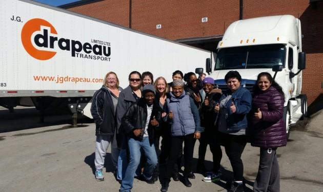 J.G. Drapeau hosts a field trip to the terminal - Truck News