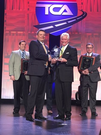 Rob Penner accepts Nation Fleet Safety Award on behalf on Bison.