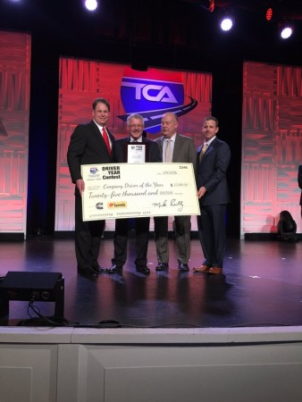 Danny Smith (second in the left) of Big G Express was named TCA's Company Driver of the Year