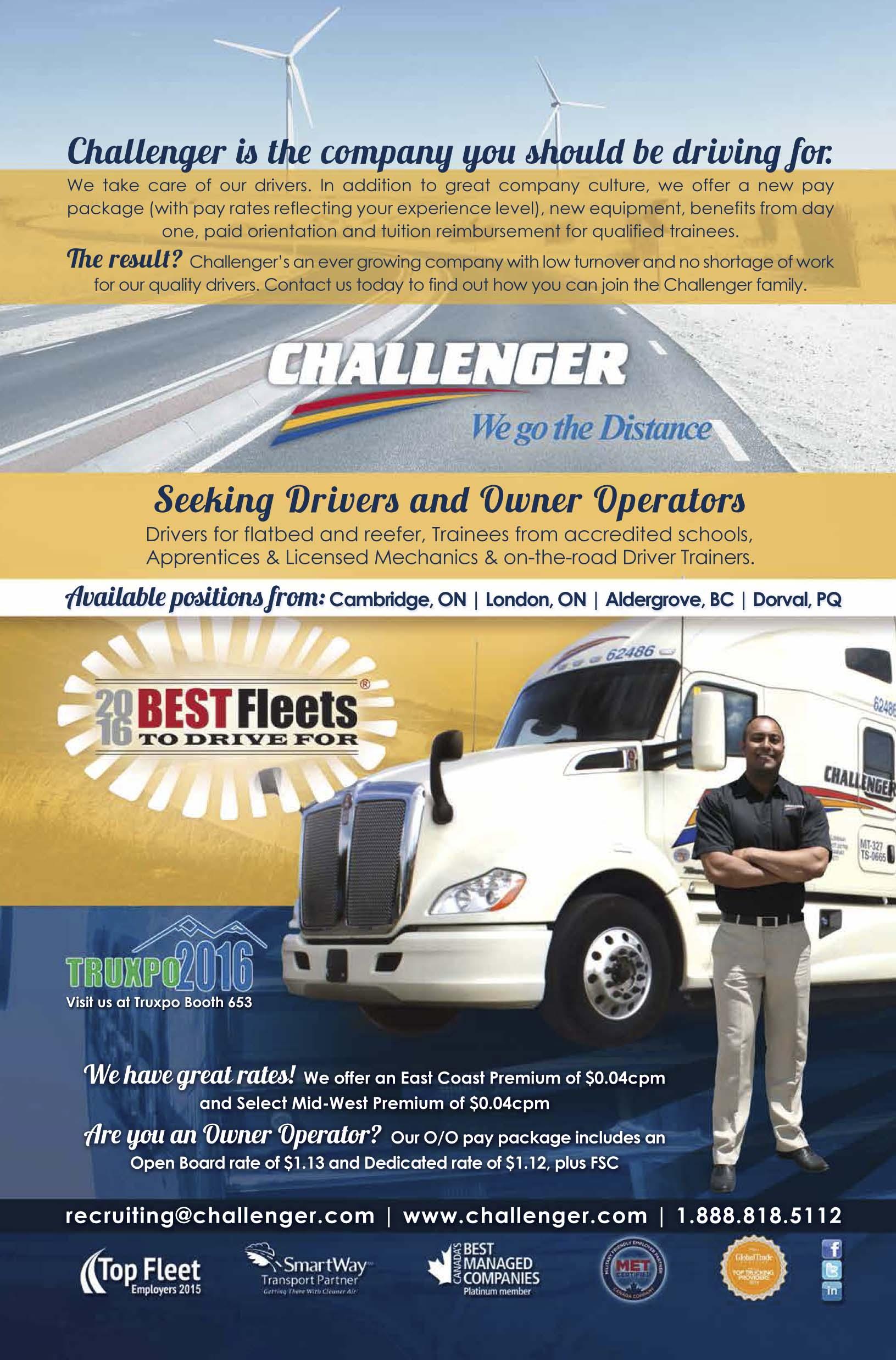 Challenger Motor Freight – Truck West