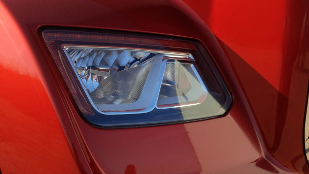 The LED brow above the halogen headlamp doubles as a daytime running light.