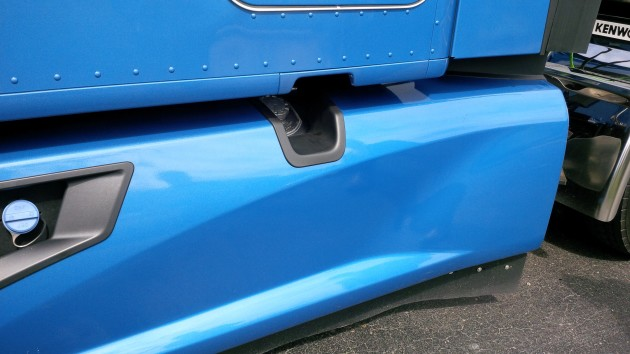 A new flared side fairing helps direct air along the side of the trailer and away from the underbody.