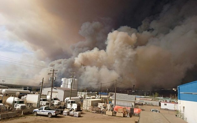 Fort McMurray wildfire. Courtesy of Facebook.