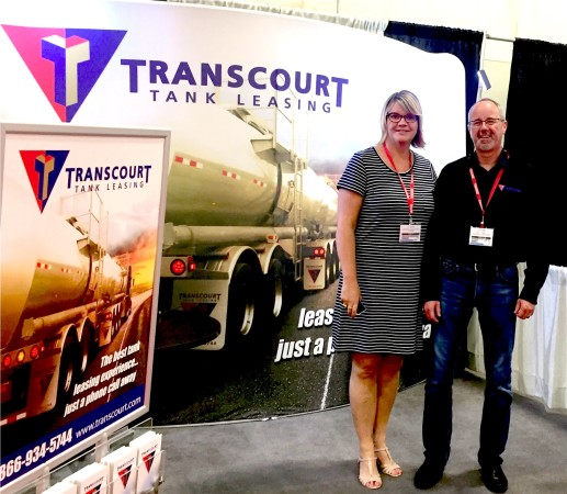 Champion curler Georgina Wheatcroft visits Transcourt booth at Truxpo.