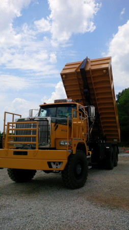 In just eight minutes, the truck was converted to a dump truck.