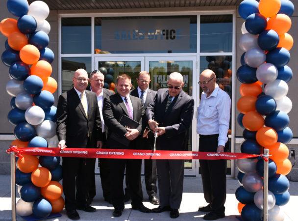 Left to right: Steve Clark, Richard Shortt (VP Tallman Group), Kevin Tallman (president, Tallman Group), John Bowen (fleet sales director, Navistar Canada), Gerald Tallman (chairman), David Gordon.