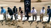 Ground is broken on the new Mercedes-Benz Vans USA plant in Charleston, S.C. July 27.