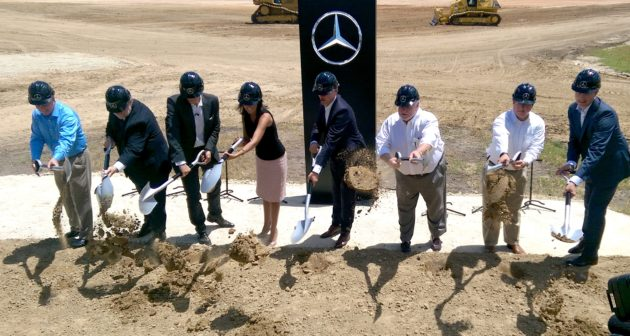 Ground is broken on the new Mercedes-Benz Vans USA plant in Charleston, S.C. July 27.