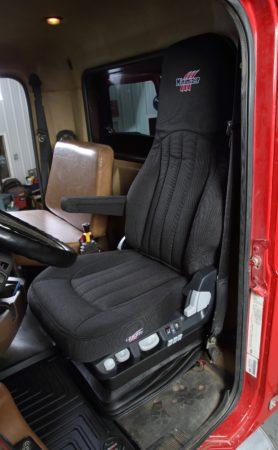 Minimizer heavy-duty truck seat.