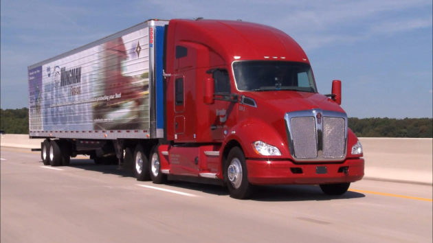 Kenworth T680 equipped with Bendix Wingman Fusion.