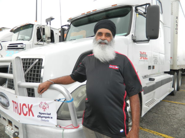 Lead truck driver Sauch Khannd of Excel Transportation.