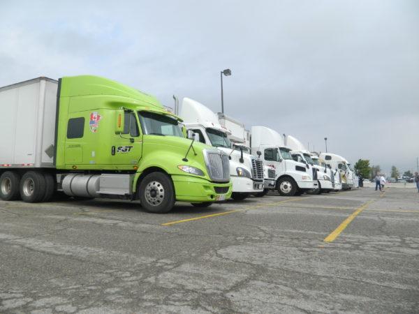 Twenty-nine trucks took part in the convoy.