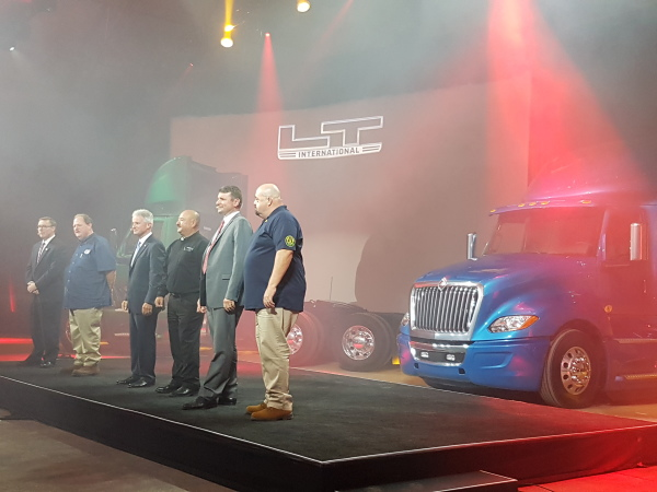 International Truck unveils its new LT Series in Las Vegas Sept. 30.