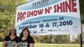 From left: Leslie Bourdin, Lesco co-owner, and Tina Clark, show organizer and Lesco sales rep.