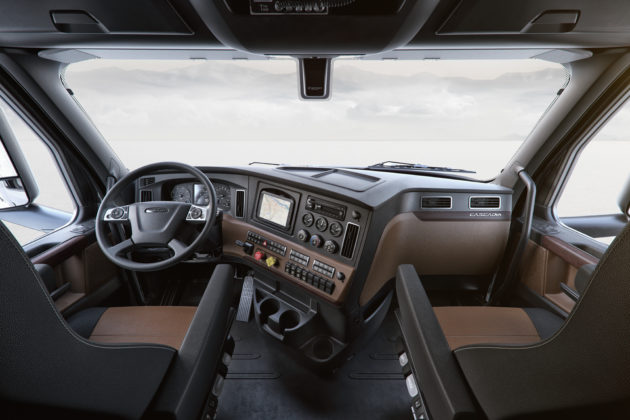 New Cascadia Elite Interior Cockpit Package shown in Saddle Tan and Black
