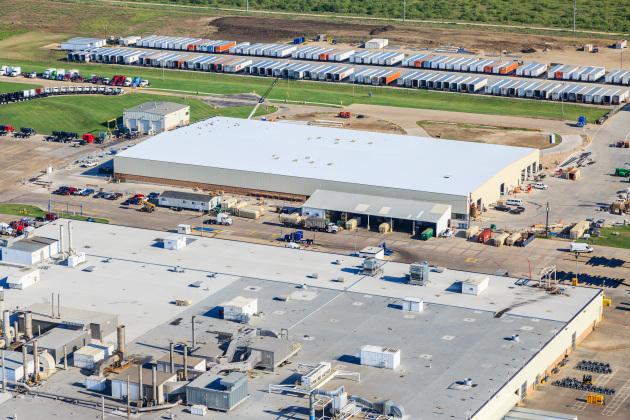 Peterbilt's Denton, Texas expansion.
