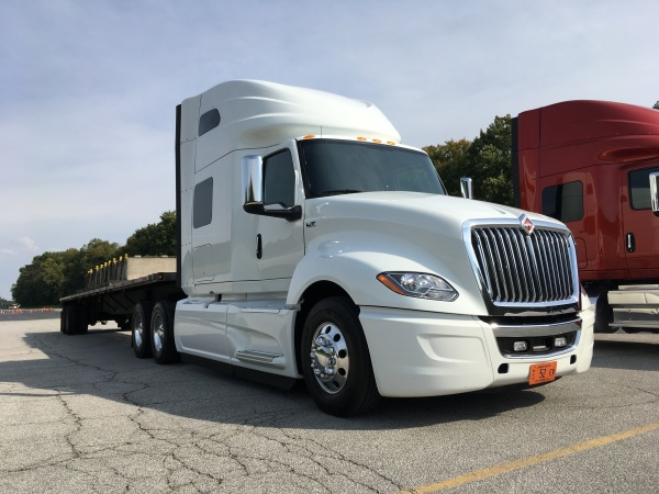 We drove this International LT 625 at Navistar's New Carlisle, Ind. proving grounds.