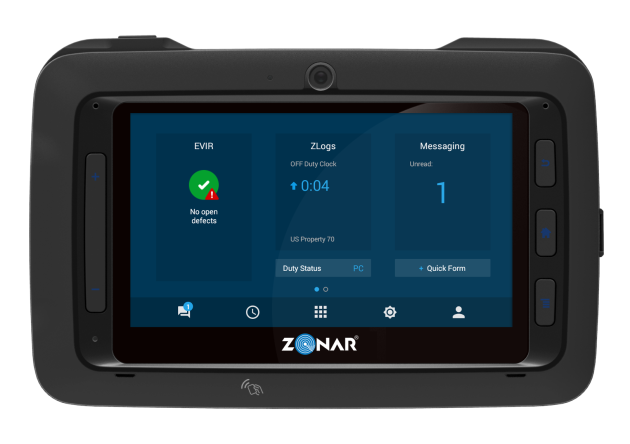 Zonar Connect tablet.