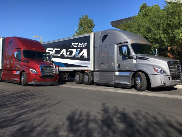 We drove these two new Cascadias from Las Vegas to California and back in early October.